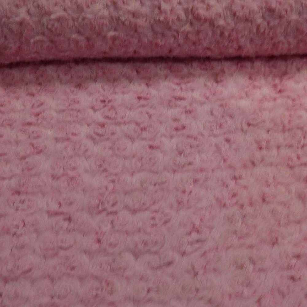 minky růžičky růžové