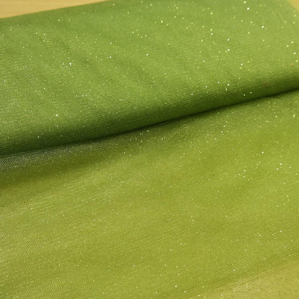 tyl zelený třpyt