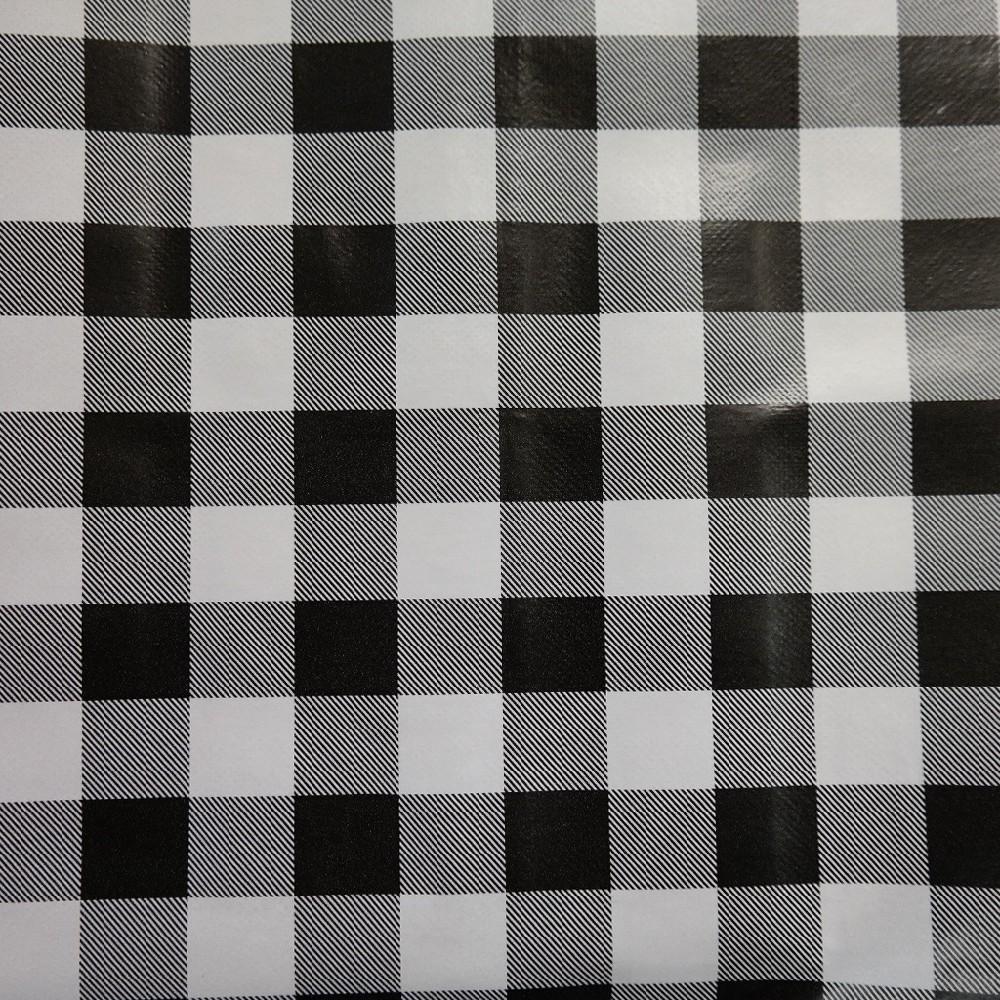 ubrus PVC černo/bílo/šedivé kostky