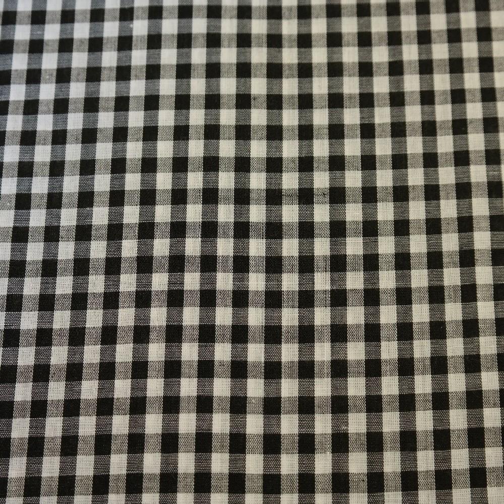 bavlna černobílá kostička