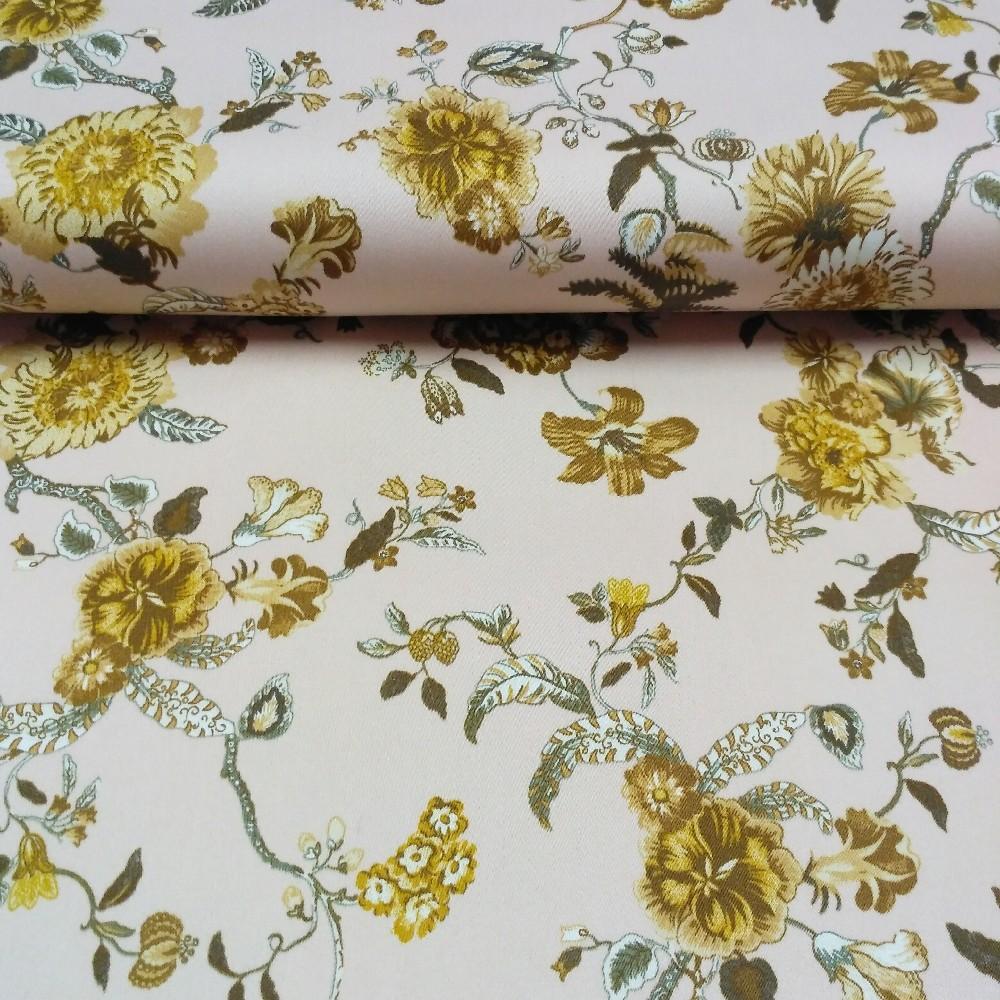 bavlna stretch květiny