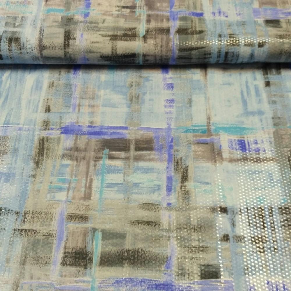 úplet modrý vzor