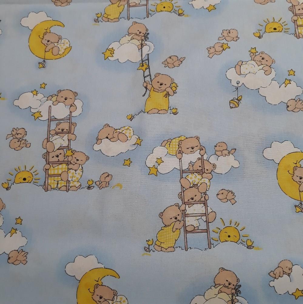 bavna modro/žlut/hněd medvědi