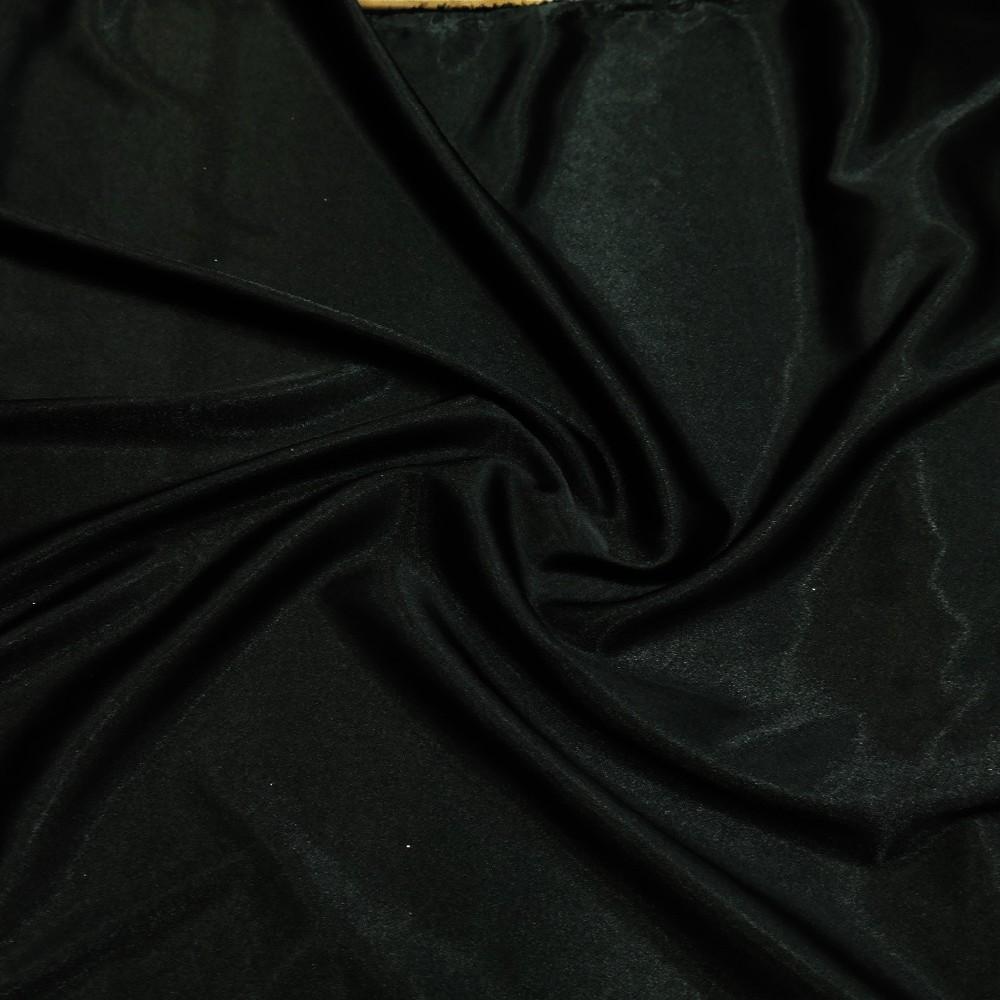satén černý slabý