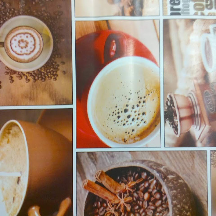 PVC ubrus - káva, obdélníky