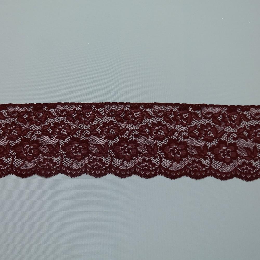 krajka elast. bordo 11cm