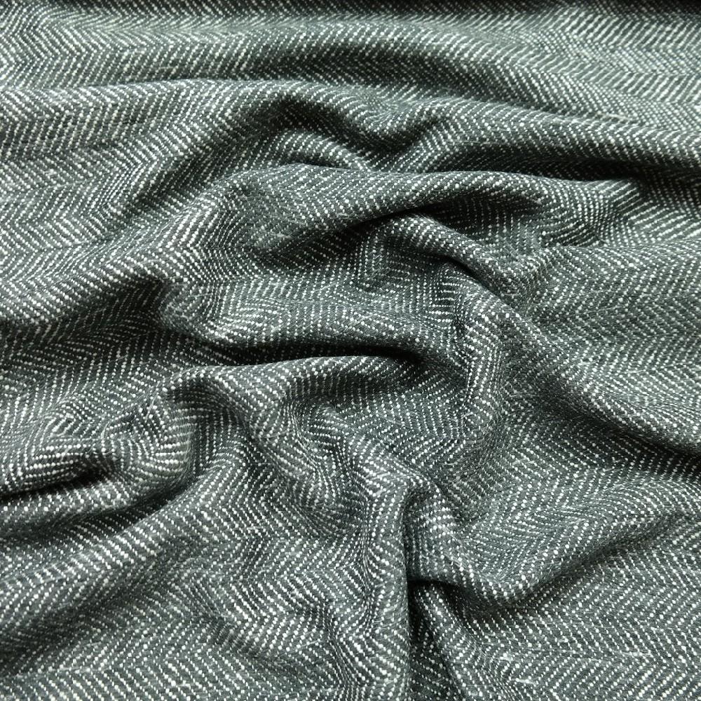 kabátovina šedo bílá