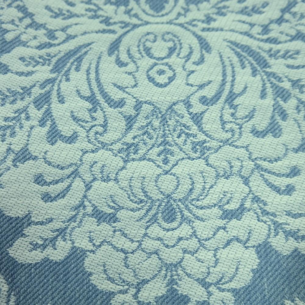 dekoračka zámecký vzor modro-šedá