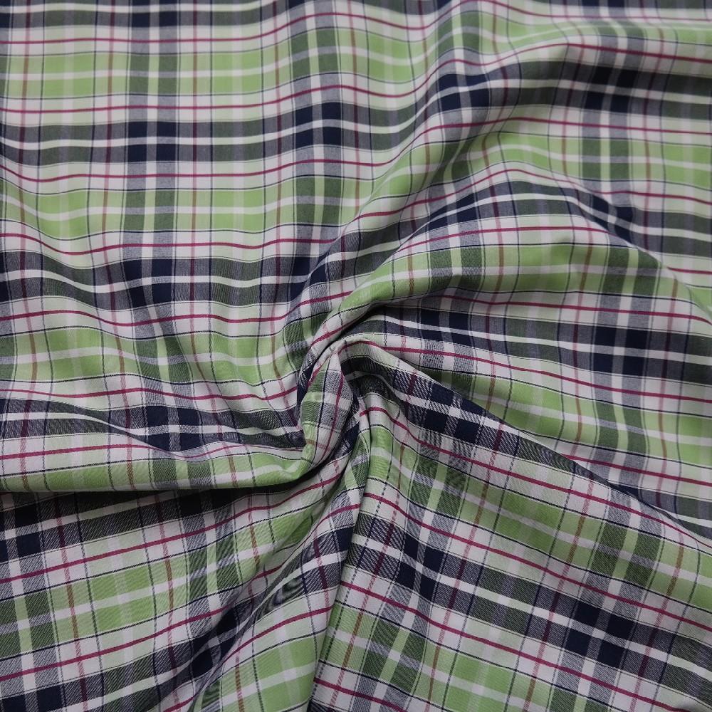 košilovina zel/šedo červená kostka