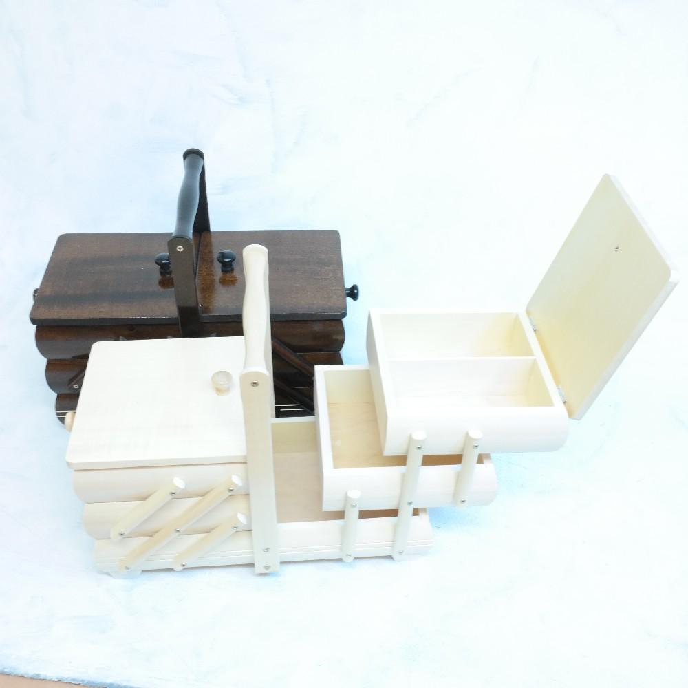 kazeta na šití,rozkládací,dřevo