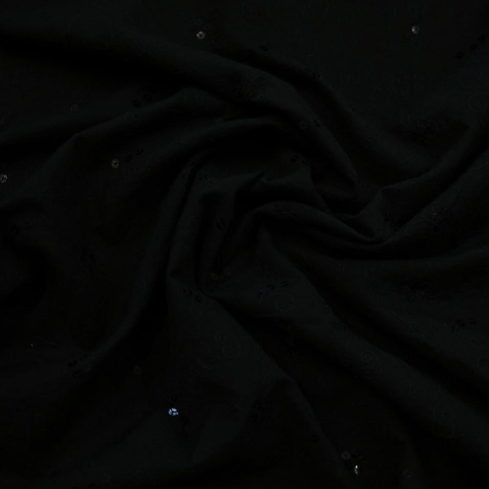 bavlna vyšívaná flitry