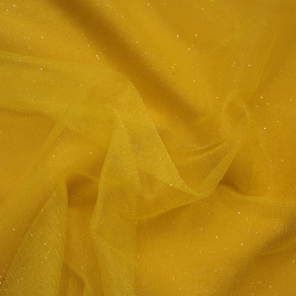 tyl žlutý třpyt