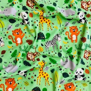 úplet zelený se zvířátky