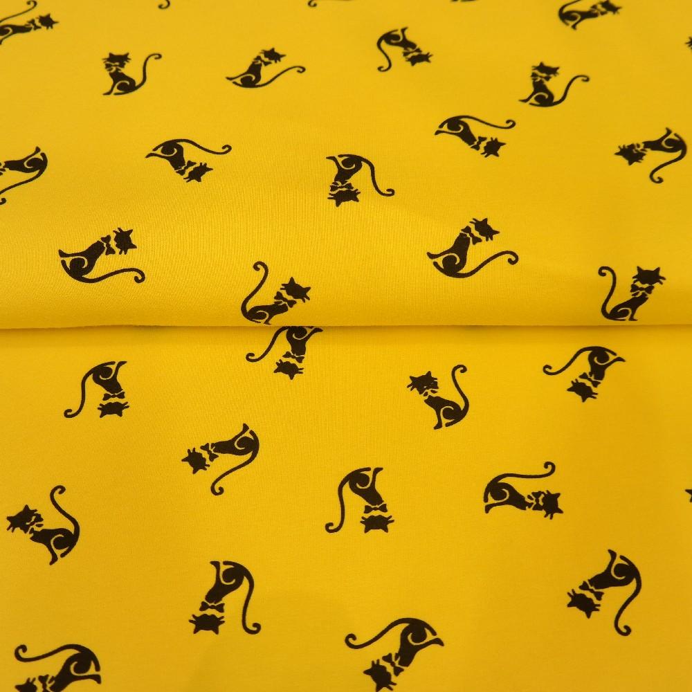 teplákovina žlutá,kočičky