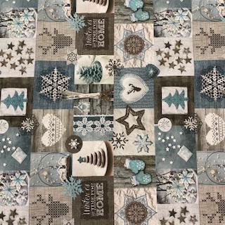bavlna patchwork vánoční