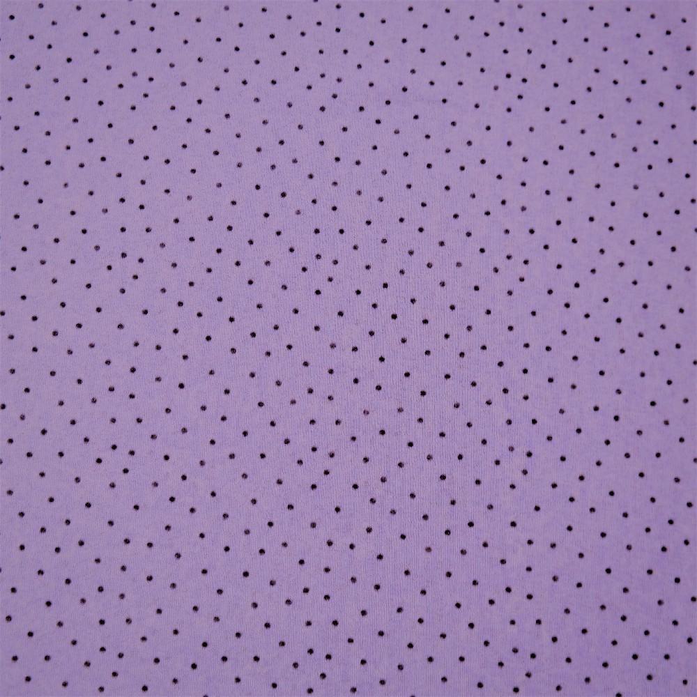 úplet fialový černý puntík