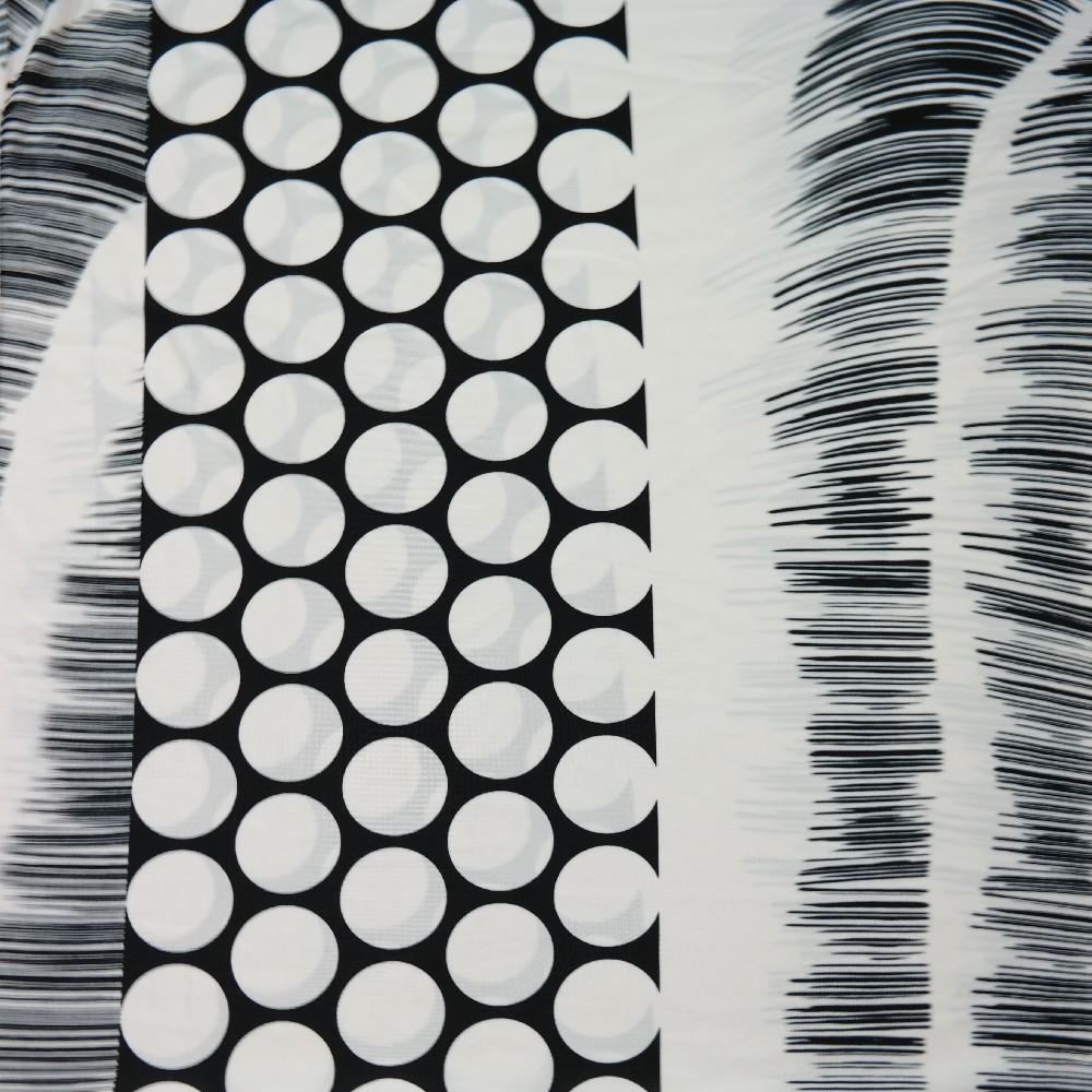 úplet černý, bílý puntík velký