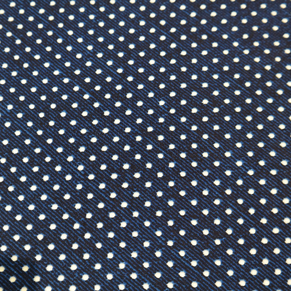 úplet tm. modrý, bílý puntík