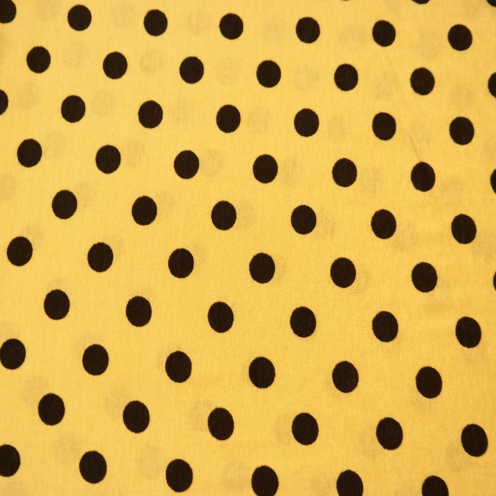 úplet žlutý, černý puntík