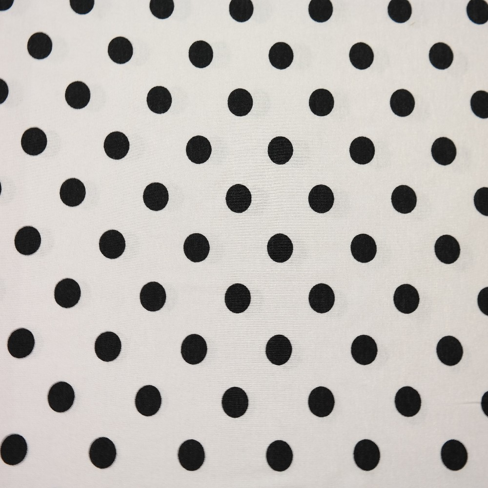 úplet bílý, černý puntík