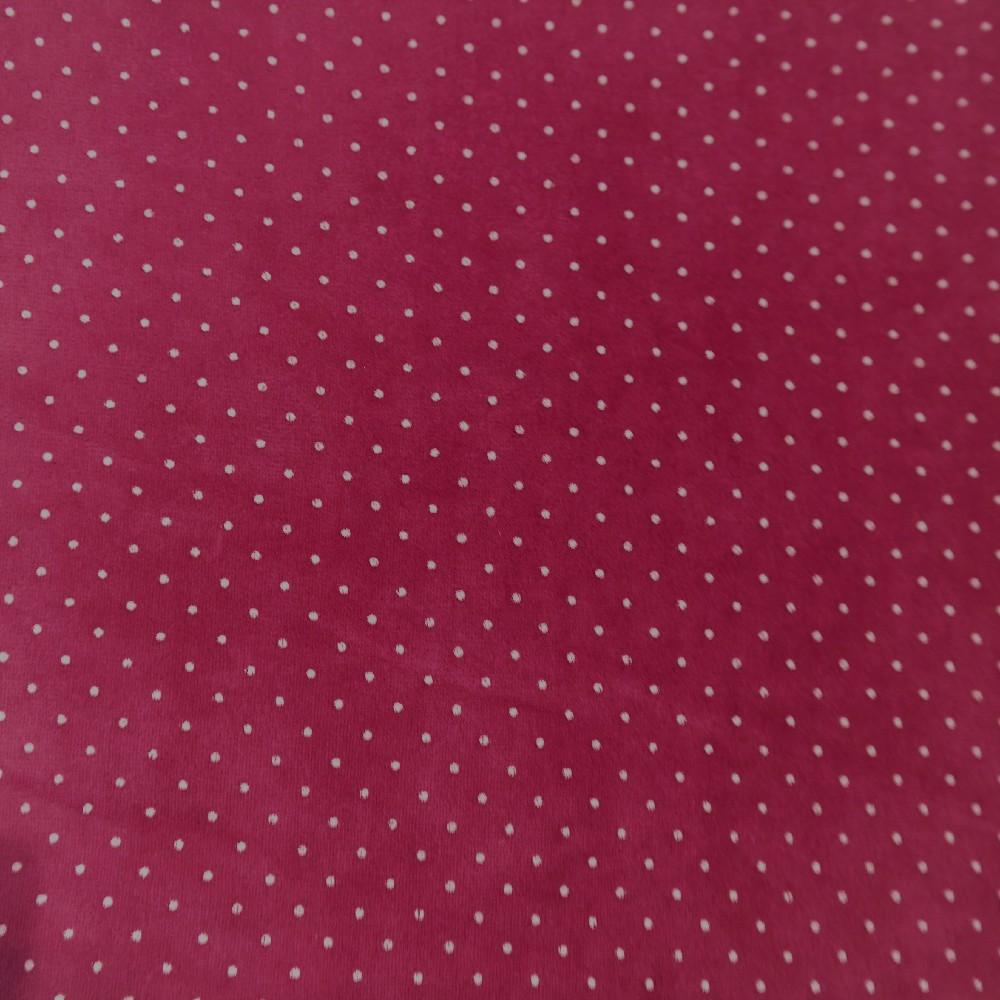 mikroplyš oděvní růžový/puntík
