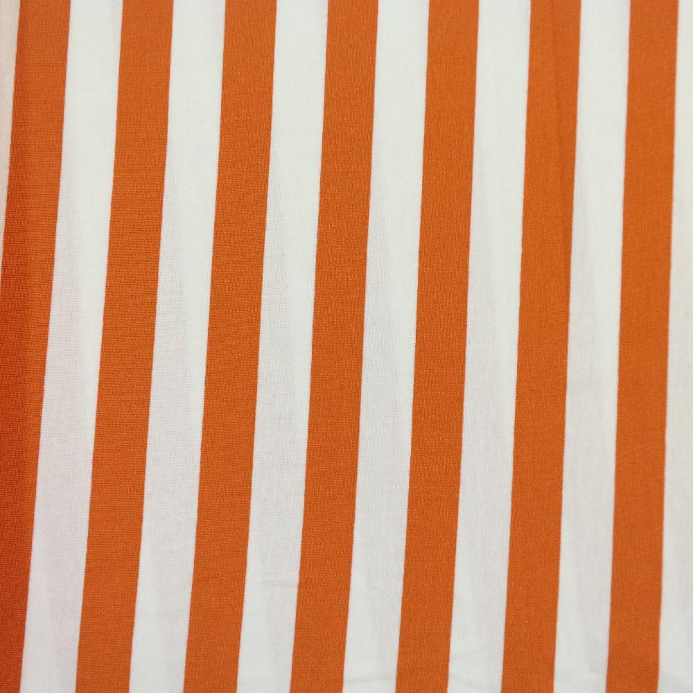 úplet bílo-oranž pruhy