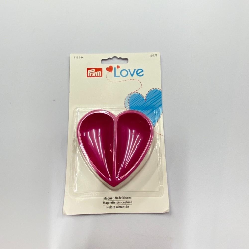 magnetická miska růžová srdce