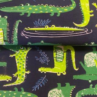 úplet modro-zelený krokodýl