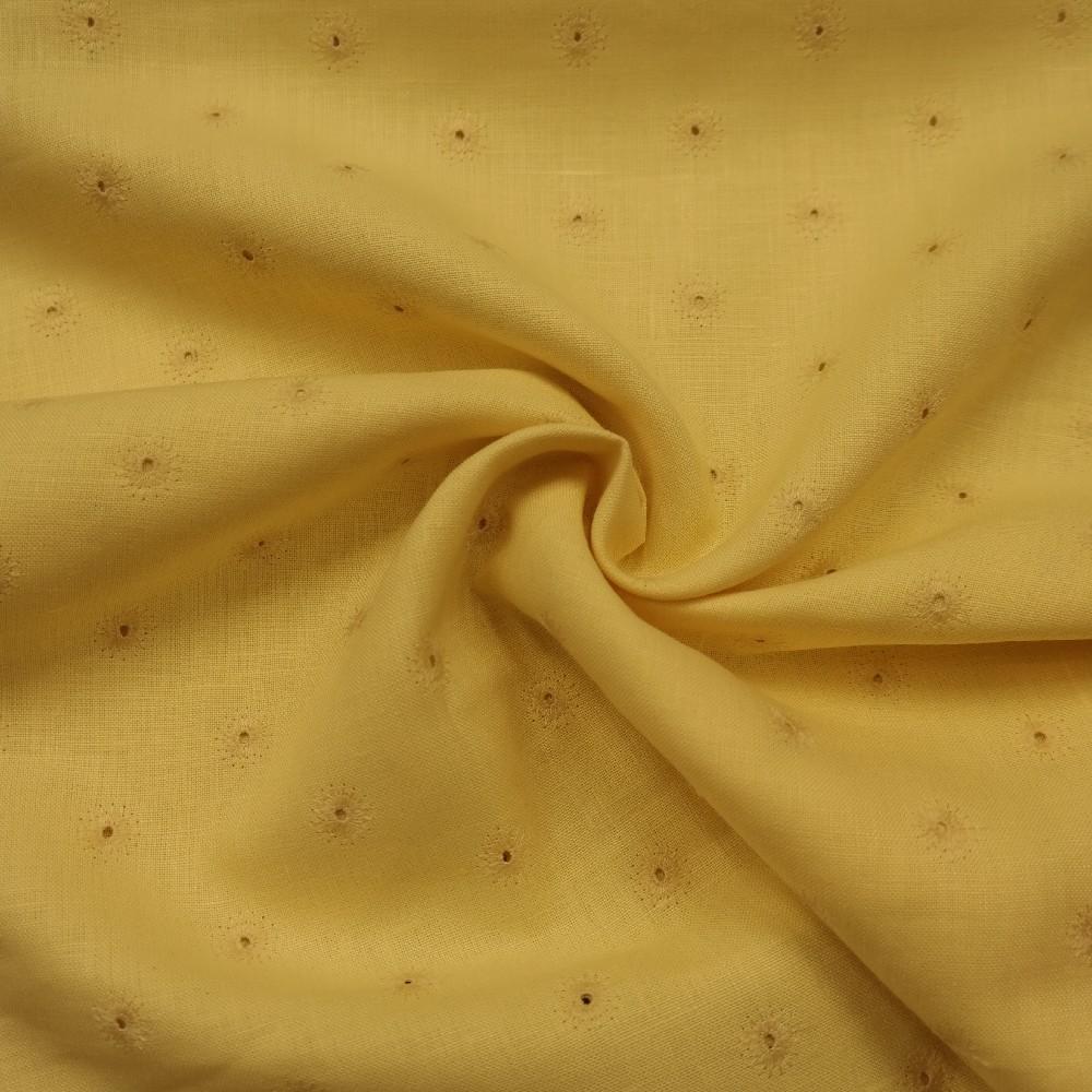 lněná žlutá vyšív.kolečk1