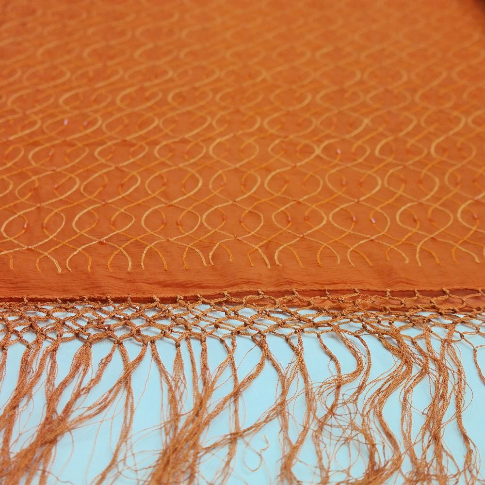 plesovka oranž proplétané korálky