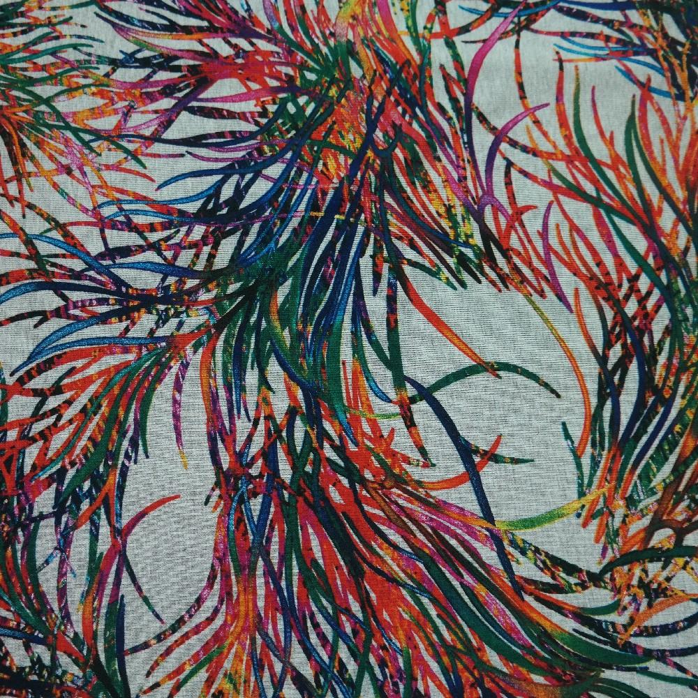 úplet béž,barevné trsy