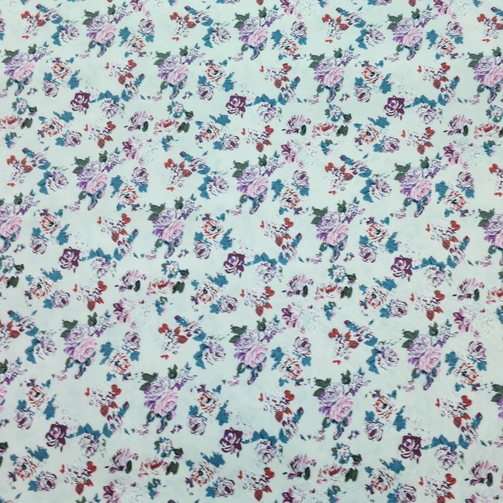 bavlna béž.el.,červ.fial.bílé květy