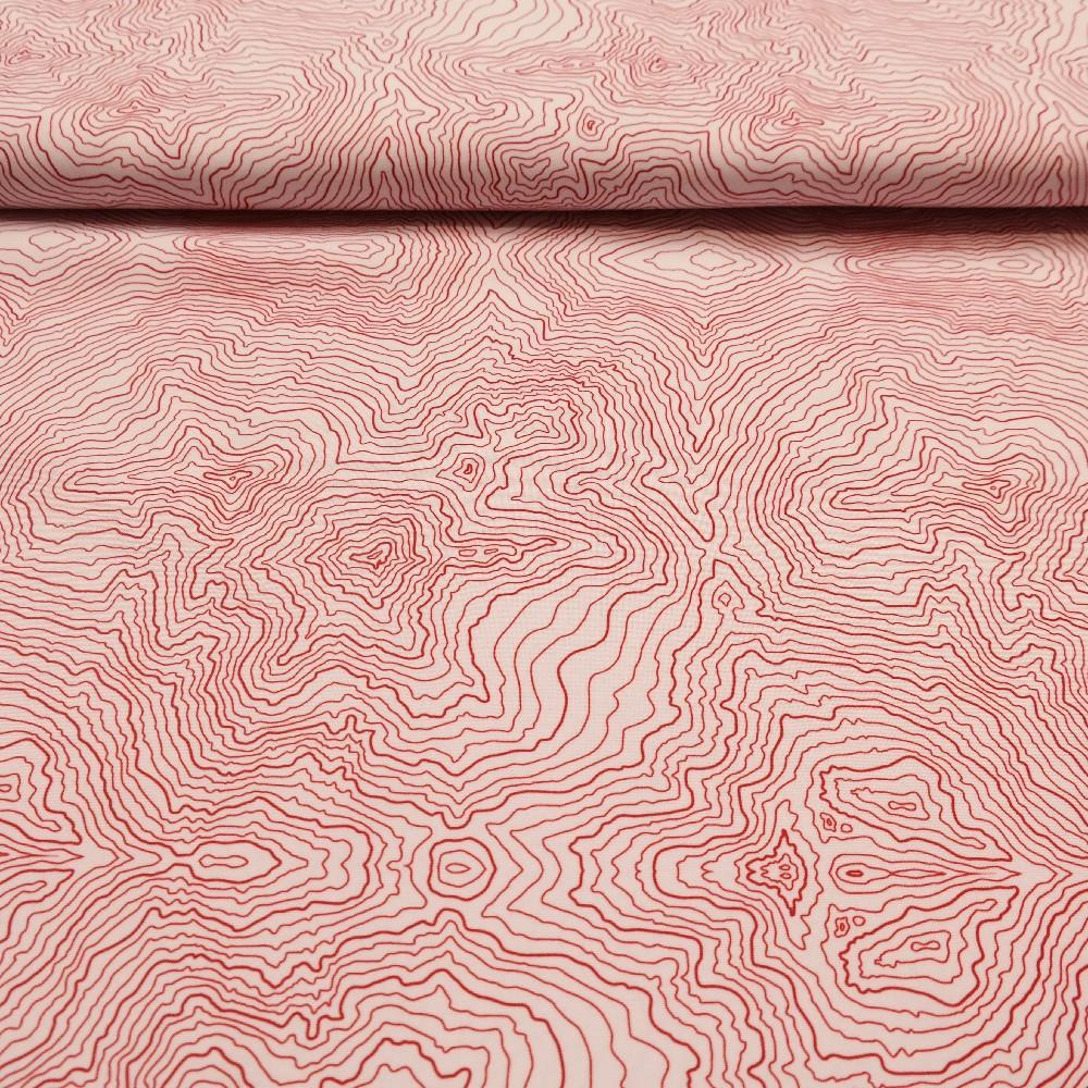 rongo bílé červené čáry-mapy