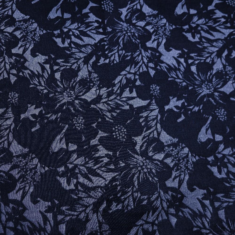 bi stretch,modrý,květy