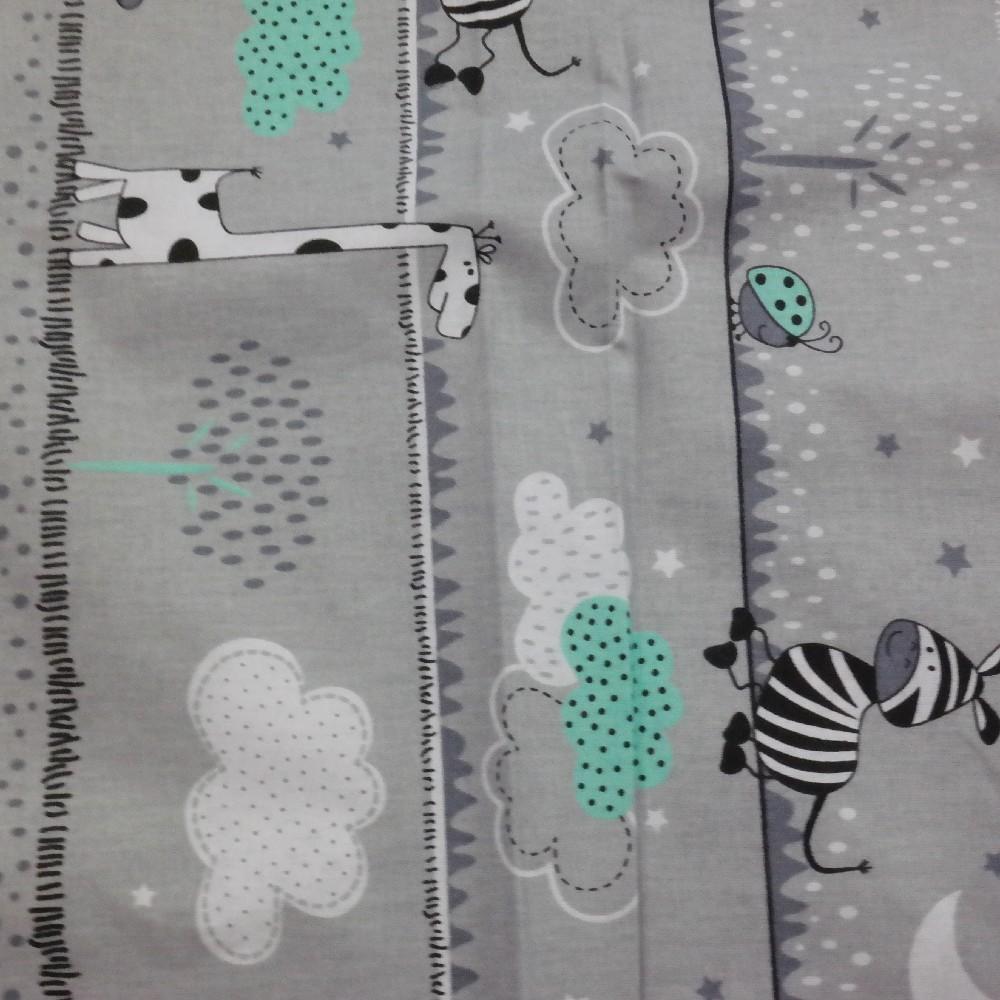 bavlna sv.šedá zebra,méďa