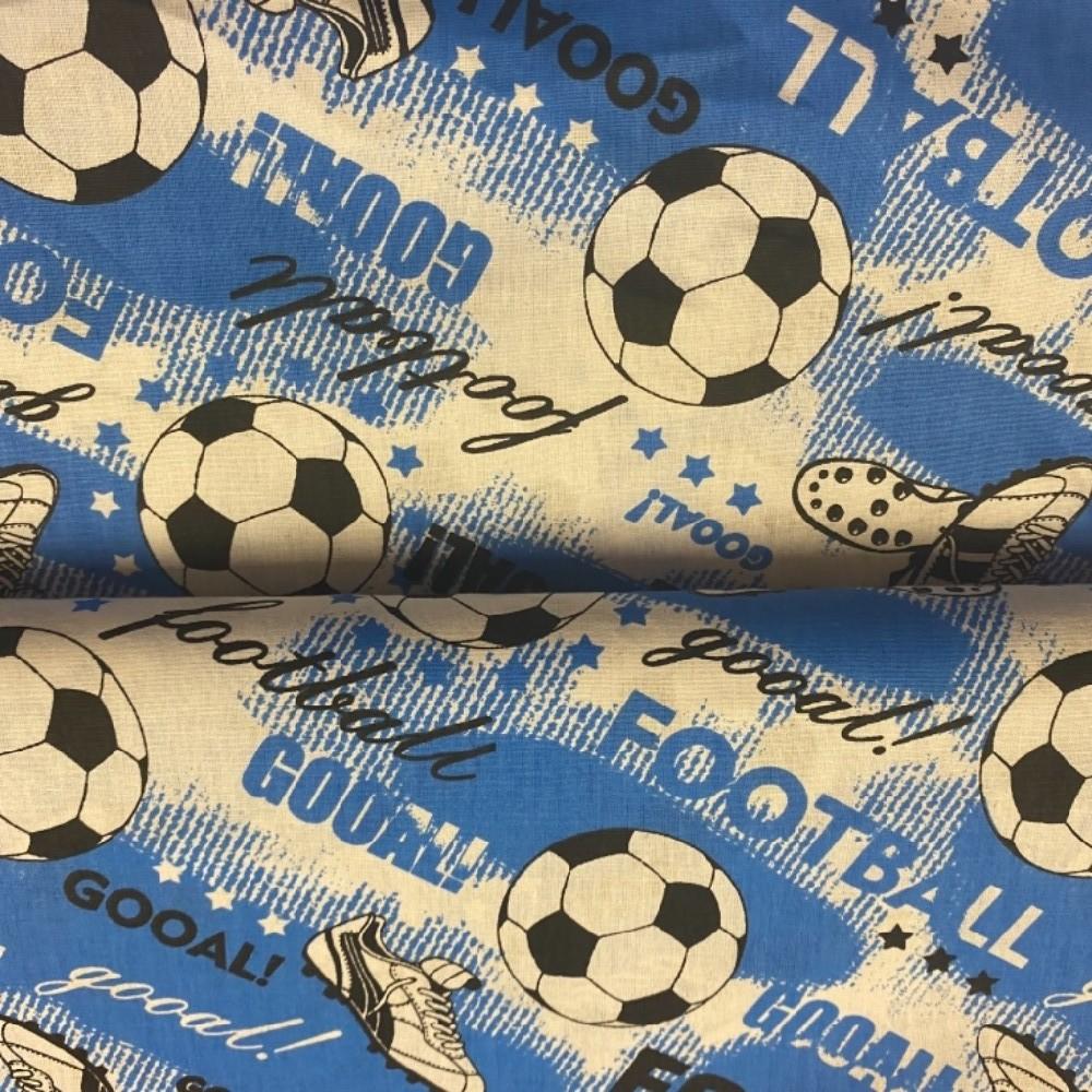 bavlna fotbal modro bílá