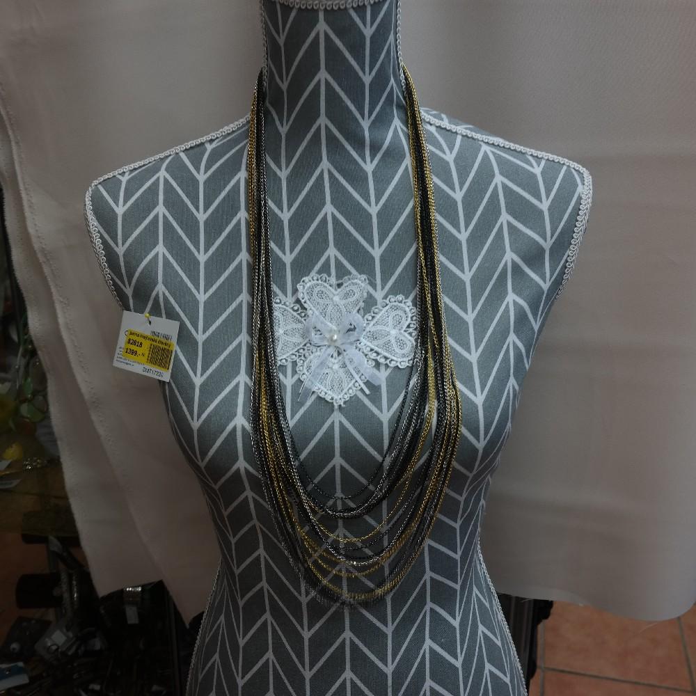 náhrdelník z řetízků mix