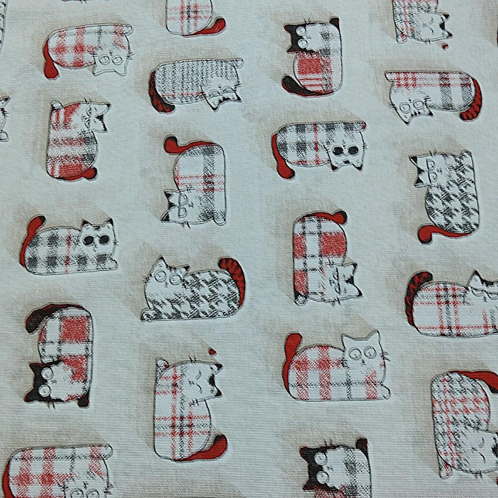 bavlna režná kočky