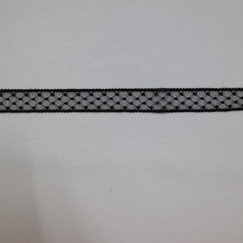 vsadka černá,silon,20mm