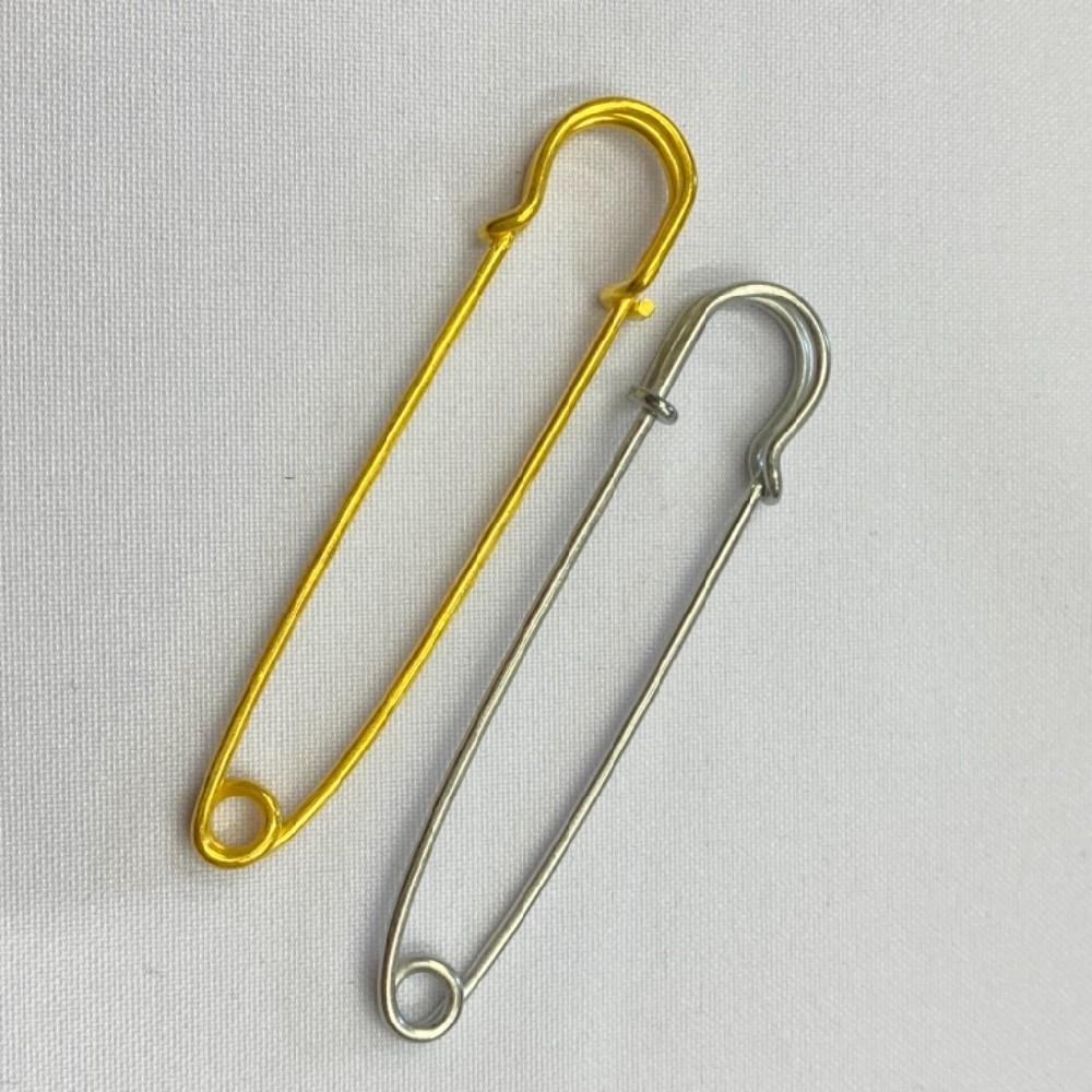 špendlík kov zlatý stříbrný 6,5cm