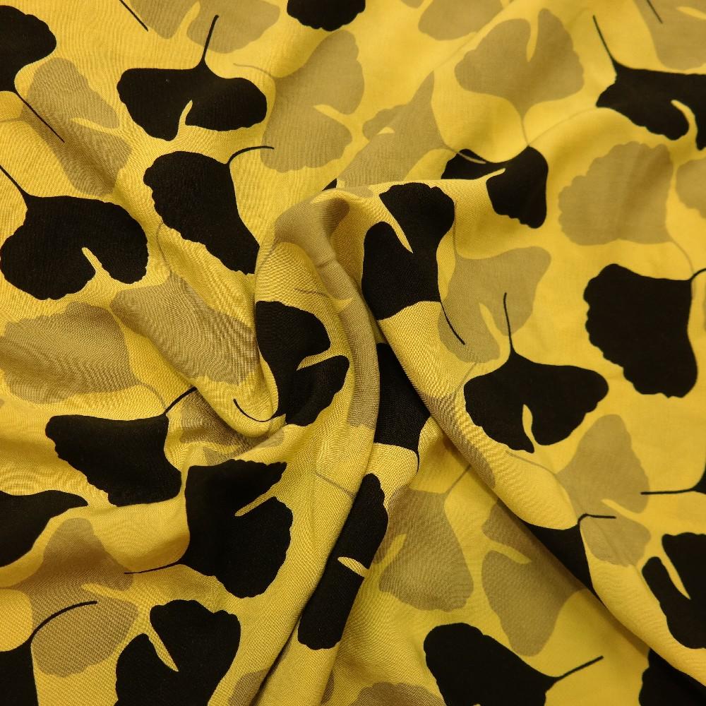 viskoza,žlutá listy ginko