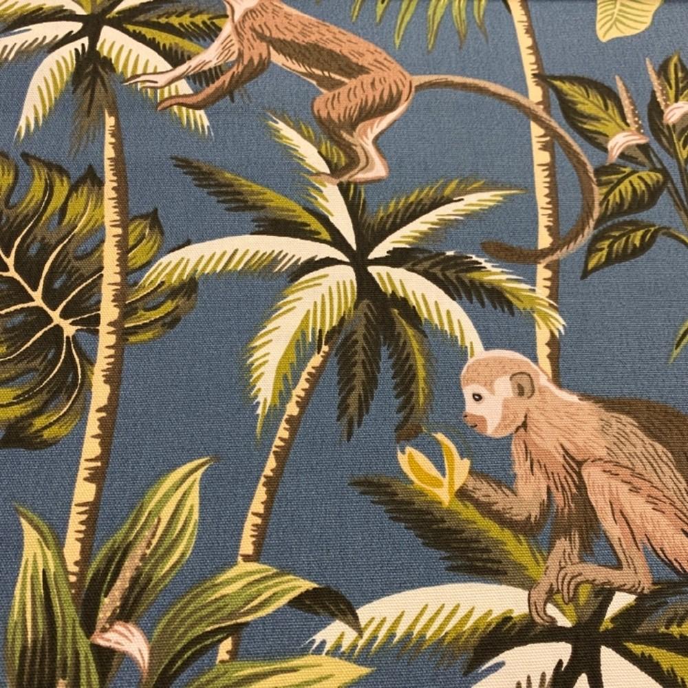 bavlna tmavě modrá opice145cm