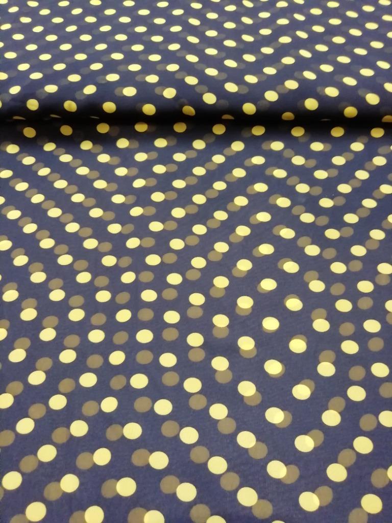 šifon žlutý puntík