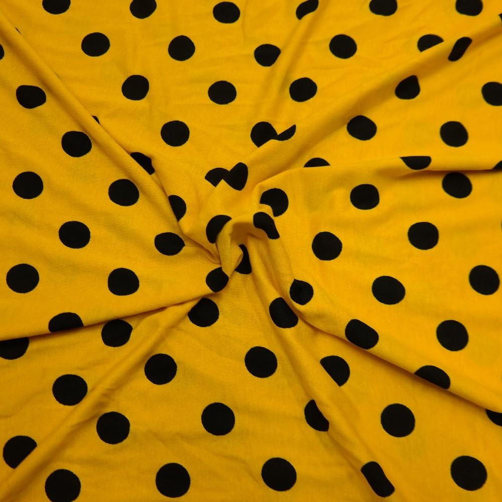 úplet žlutý,černý puntík