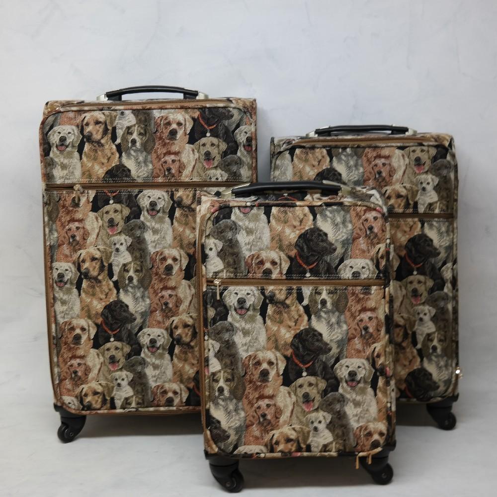 kufr malý-gobelín,psi