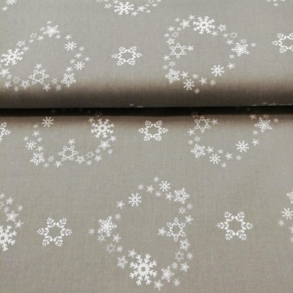 bavlna šedá vánoční 150cm ba