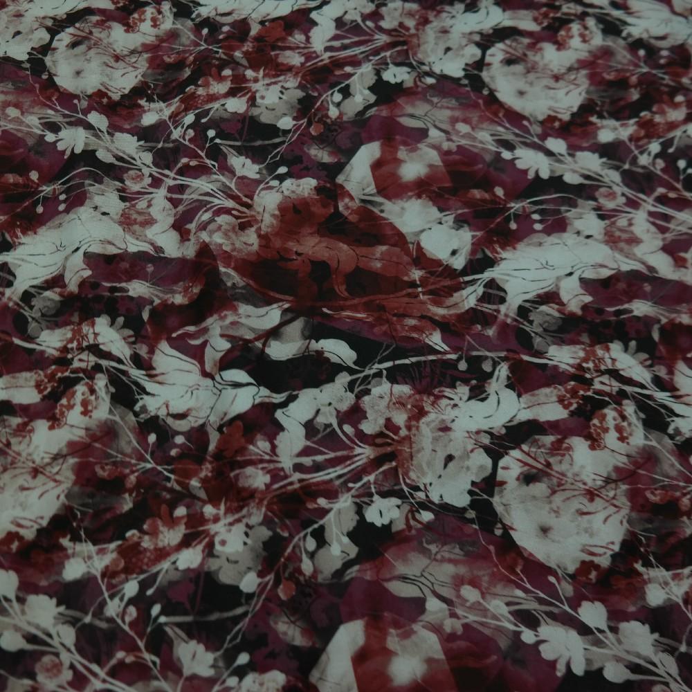 softshell,květiny hnědobordovofialová