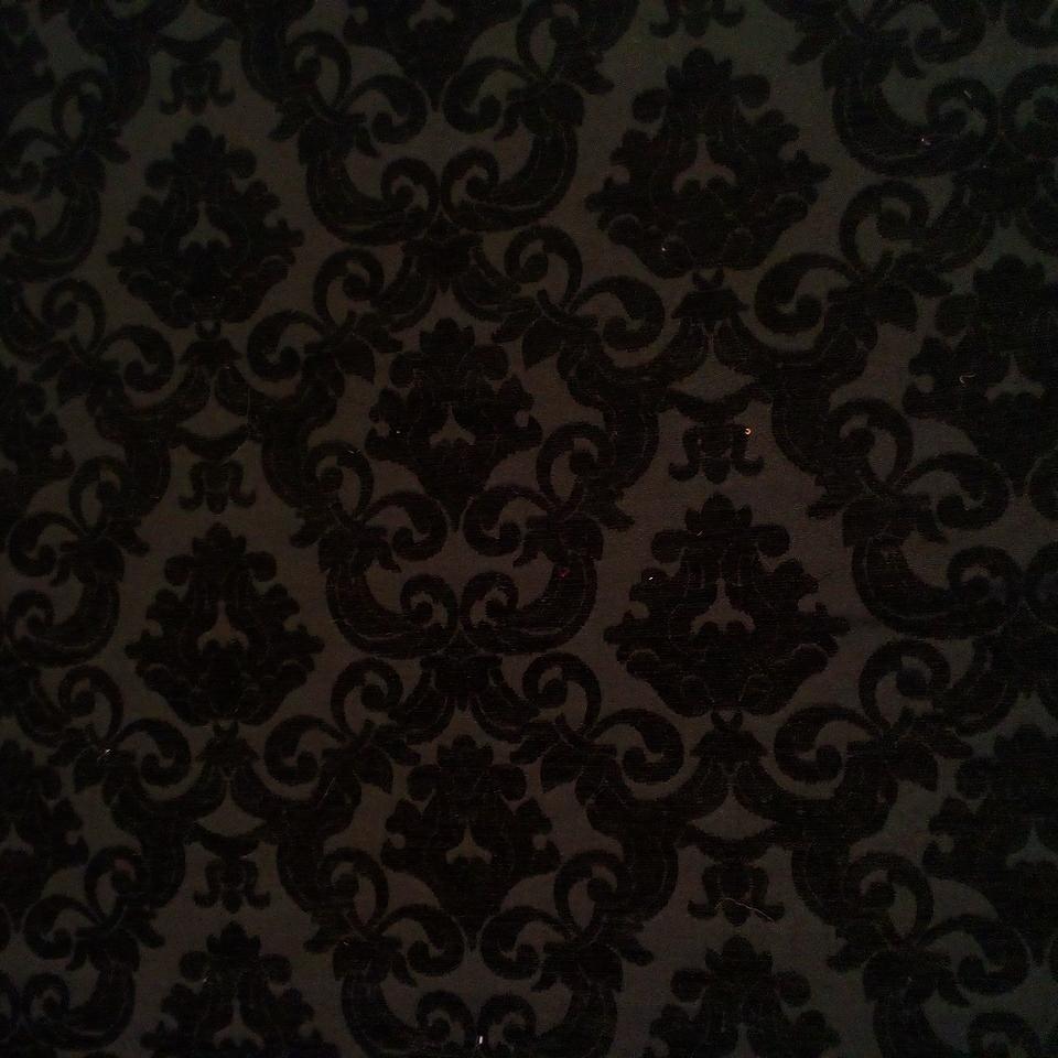 Potahovka žin. černá gobelínový vzor