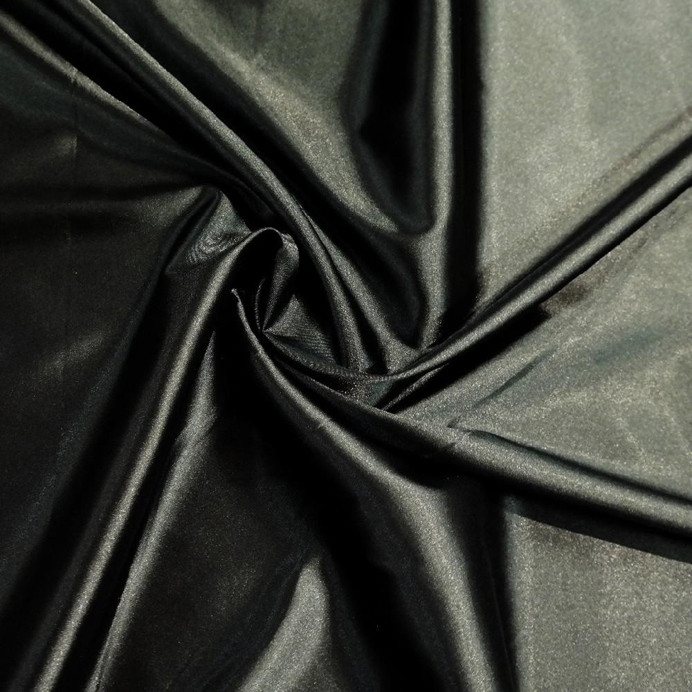 satén černý elastický