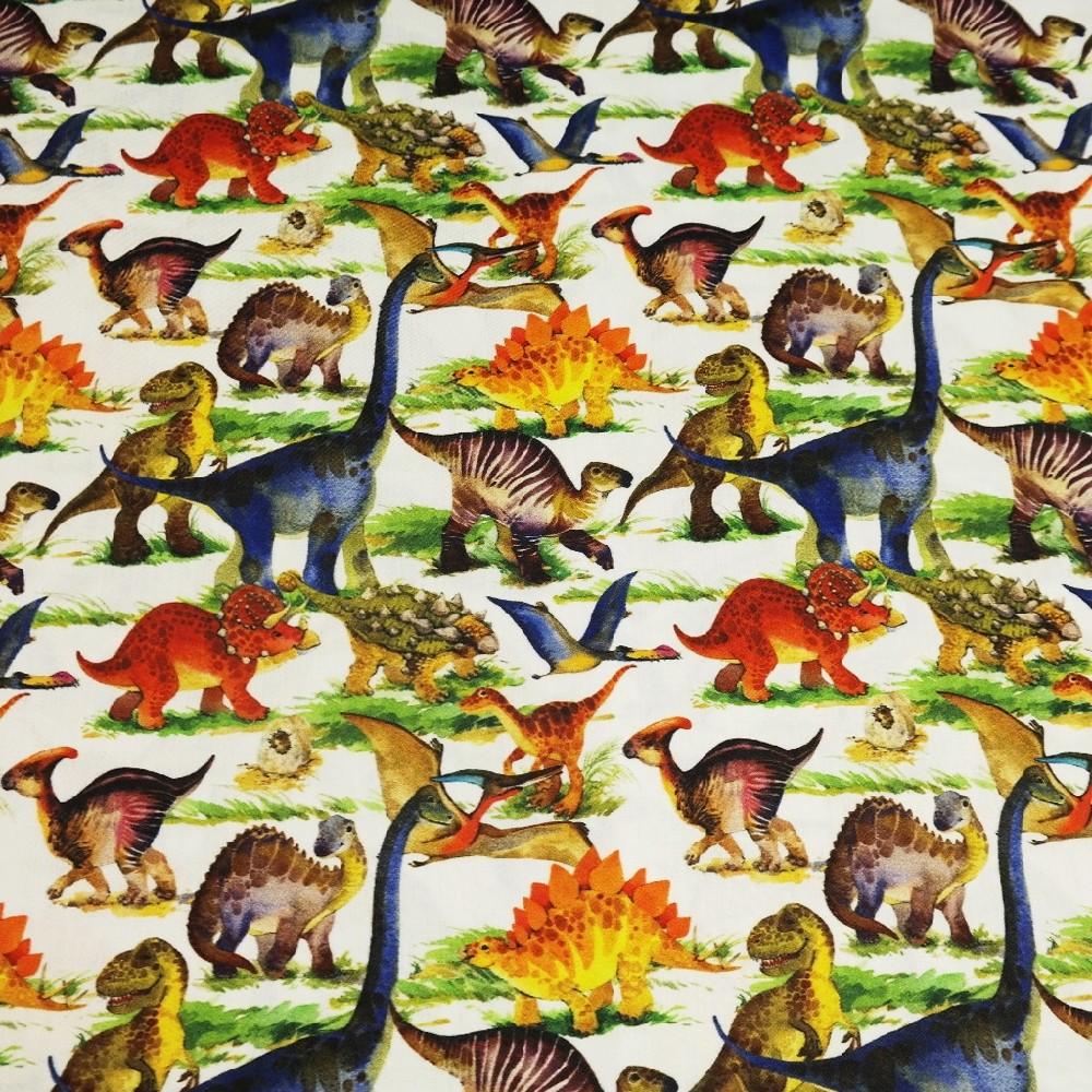 bavlna saté dinosauři